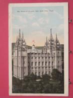 Etats-Unis - Utah - Salt Lake City - The Mormon Temple - Scans Recto-verso - Salt Lake City