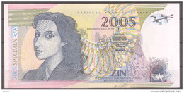 Serbia – The Institute For Manufacturing Banknotes And Coins (ZIN) 2005 Milena Pavlovic Barilli Polymer Test Note - Serbien
