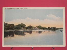 Etats-Unis - Connecticut - Scene On Mystic River - Mystic - Scans Recto-verso - Etats-Unis