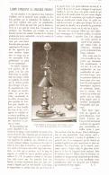 LAMPE UTILISANT LA CHALEUR PERDUE  1886 - Technical