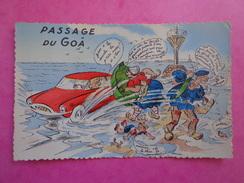 CPA PHOTO 85 PASSAGE DU GOA NOIRMOUTIER FANTAISIE HUMORISTIQUE - Noirmoutier