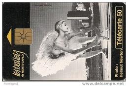 CARTE°-PUBLIC-MONACO-50U-MF36-GEM A-07/95-BALLETS De MONTE CARLO-SAISON 1995-UTILISE-BE