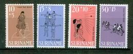 1968 - Enfance - SURINAM - Marelle, Pyramide, Balle Au Mur, Tir à La Corde - N° 486 * - Surinam