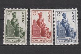 Allierte Besetzung Saarland **  293-295 Heiliges Jahr Katalog  20,00 - 1947-56 Gealieerde Bezetting