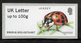 Jersey Post & Go ATM - Insects - Harlequin Ladybird -  UK Letter 100g MNH - Jersey