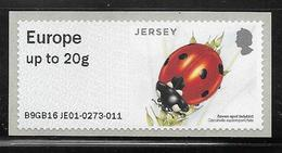 Jersey Post & Go ATM - Insects - Seven Spot Ladybird -  EU Letter 20g MNH - Jersey