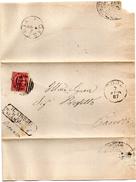 1887 LETTERA CON ANNULLO NUMERALE SORA FROSINONE - Storia Postale