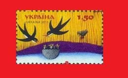Ukraine 2011, Hirondelles Schwalben Swallow MNH **