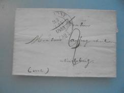 Pli  Pour Tinchebray - Marcophilie (Lettres)