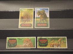 ZAMBIA - 1972 NATURA  4 VALORI  - TIMBRATO/USED - Zambia (1965-...)