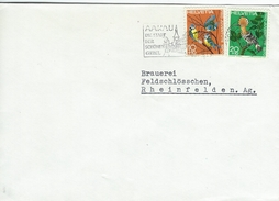 Eurasian Blue Tit. - Parus Caeruleus & Eurasian Hoopoe  Upuapa Epops.  Cover Used Aarau Switzerland.  H-918
