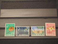 ZAMBIA - 1965 INDIPENDENZA/FIORI  4 VALORI  - NUOVI(++) - Zambia (1965-...)