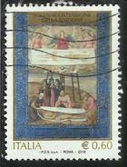 ITALIA REPUBBLICA ITALY REPUBLIC 2010 SOLENNE OSTENSIONE DELLA SINDONE TORINO GALLERIA SABAUDA USATO USED OBLITERE´ - 2001-10: Used