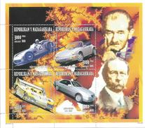 1996 Madagascar Malagasy Sports Cars Automobiles Mercedes Porsche Complete Set Of 1 Souvenir Sheets  MNH - Madagascar (1960-...)