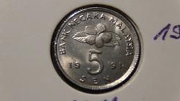 Malaysia - 1991 - 5 Sen - KM 50 - XF - Malaysia