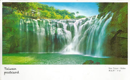 Shifen Scenic Waterfall,Keelung River, Broadest Waterfall In Taiwan, Postcard Addressed To ANDORRA,with Postmark Taipei - Taiwan