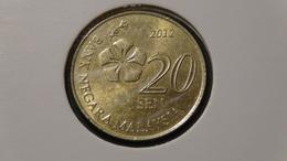 Malaysia - 2012 - 20 Sen - KM 203 - XF - Malaysia