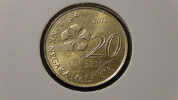 Malaysia - 2012 - 20 Sen - KM 203 - XF - Malaysie