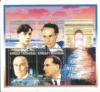1996 Madagascar Malagasy Politician Francois Mitterand France  Complete Set Of 1 Souvenir Sheets  MNH - Madagascar (1960-...)