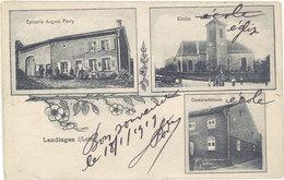 Cpa Allemagne (ou 57 ?) – Landingen I/Loth. ( Epicerie Auguste Ferry, Kirche ... ) - Allemagne