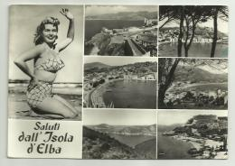 SALUTI DALL'ISOLA D'ELBA   VIAGGIATA FG - Livorno