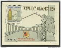 ANDORRA- VEGUERIA EPISCOPAL-SERVEI D´EMISSIONS. HOJITAS RECUERDO Nº 40 XXVI JOCS OLIMPICS 1996 - Viguerie Episcopale