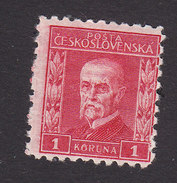 Czechoslovakia, Scott #106, Mint Hinged, President Masaryk, Issued 1926 - Unused Stamps