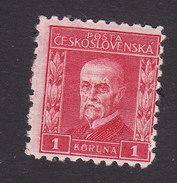Czechoslovakia, Scott #106, Mint Hinged, President Masaryk, Issued 1926 - Czechoslovakia