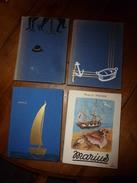 1952-53 :Lot De 4 Livres De Marcel Pagnol ---->(couvertures Toilées)César ,Marius ,Fanny ;(couverture Bristol) Marius . - Libri, Riviste, Fumetti