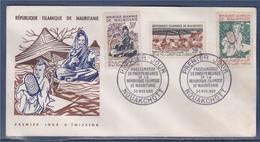 = République Islamique De Mauritanie Proclamation De L'Indépendance 3 Timbres Nouakchott 28.11.60 Enveloppe 1er Jour - Mauretanien (1960-...)