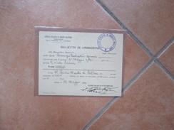1924 Istituto Italiano Credito Marittimo Biglietto Ammissione Assemblea GENERALE 18 Maggio  Ricevuta Quota Deposito - Tickets - Entradas