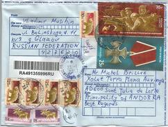 Ordre Du Courage (Décoration), Sur Lettre Adressée ANDORRA, Avec Timbre à Date Arrivée - 1992-.... Federazione