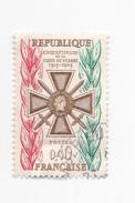 0,40 FRANCS - 1965 - 50eme Anniverssaire De La Croix De Guerre 1915-1965 - France