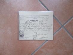 1919 CESENA Amministrazione Tasse Sugli Affari Marca Da Bollo Cent.5 - Tickets - Entradas