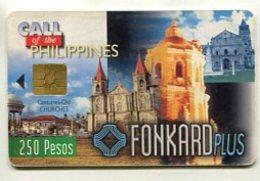TK 8525 PHILIPPINES - PLTD Chip PH-TC-09 Old Churches 9/30/99