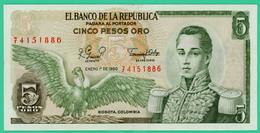 5 Pesos - Colombie - 1980 - N° 74151886 - Sup - - Colombie