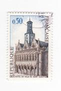 0,50 FRANC - 1967 - Hotel De Ville De Saint Quentin - France