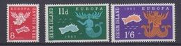 Europa Cept 1962 Herm Island 3v ** Mnh (34685D) - 1962