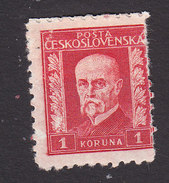 Czechoslovakia, Scott #131, Mint Hinged, President Masaryk, Issued 1927 - Unused Stamps
