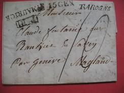 Lettre De Rarogne Suisse 1833 Avec Texte , Marque Postale St Maurice Pour Magland - 1801-1848: Précurseurs XIX