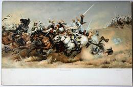 CPA Militaria Cavalerie Bataille REZONVILLE De Mars La Tour 1870 Guerre Franco-prusienne - Other Wars
