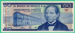50 Pesos - Mexique - Série  KZ - N° Z9021198 - 1981 - Neuf - - Mexique