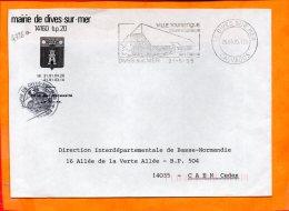 CALVADOS, Dives Sur Mer, Flamme SCOTEM N° 4726a, Ses Halles, SECAP DC - Storia Postale