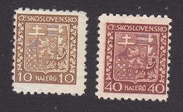 Czechoslovakia, Scott #153, 157, Mint Hinged, Coat Of Arms, Issued 1929 - Czechoslovakia