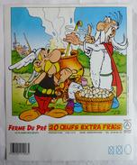 ETIQUETTE 20 OEUFS FERME DU PRE 1992 PANORAMIX LA POTION MAGIQUE (2) Variante - Livres, BD, Revues