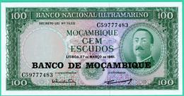 100 Escudos - Mozambique - 1961 - N° C59777483 - Neuf - - Mozambique