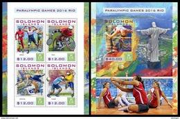 SOLOMON Isl. 2016 - Rio Paralympics. M/S + S/S - Handicaps