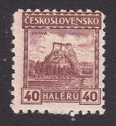 Czechoslovakia, Scott #127, Mint Hinged, Grava Castle, Issued 1927 - Unused Stamps