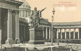 CPA С Петербугь St Péterbourg Cathédrale De Kazan Statue De - Rusland