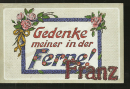 CARTE ENVOYER  DES DEUX PONTS  1923 GEDENKE MEINER IN DER  FERNE   FRANZ - Zweibruecken